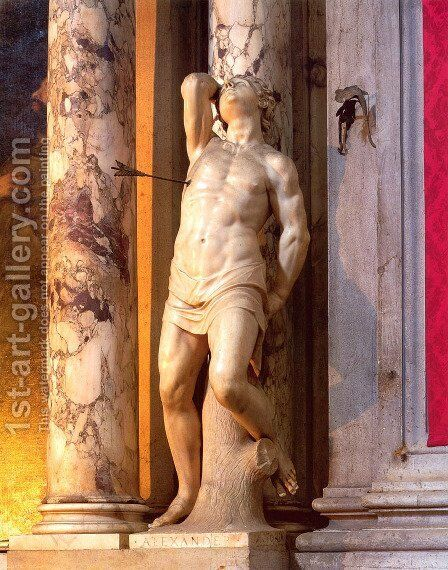 St. Sebastian by Alessandro Vittoria - Reproduction Oil Painting