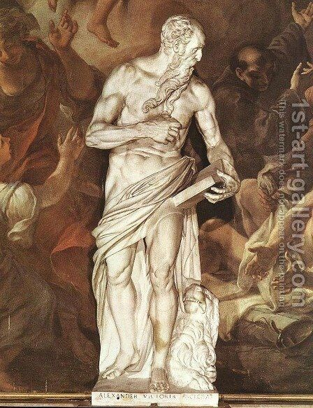St Jerome by Alessandro Vittoria - Reproduction Oil Painting