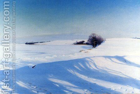 A Winter Morning by Sigvard Hansen - Reproduction Oil Painting