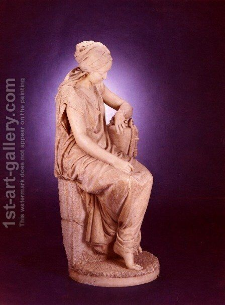 A Large Marble Seated Figure Of Ruth by Girolamo Masini - Reproduction Oil Painting