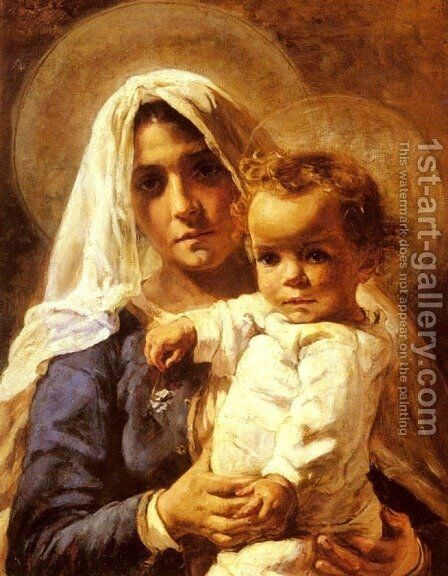 A Mother And Child by Elizabeth Nourse - Reproduction Oil Painting