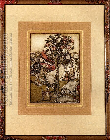 Alice In Wonderland: The Jack Of Hearts by Arthur Rackham - Reproduction Oil Painting