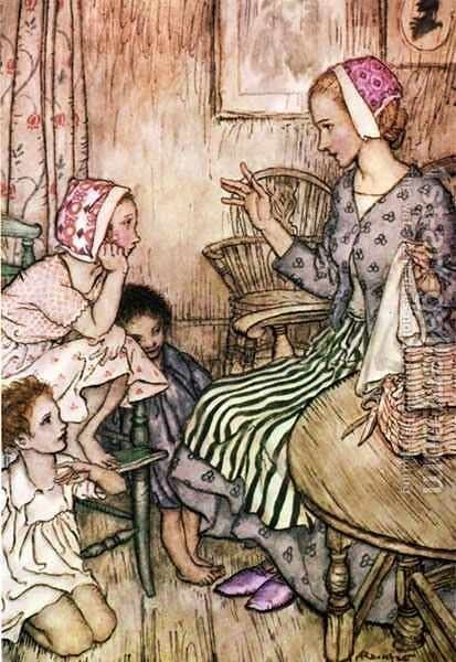 Goblin Market: Laura would call the little ones by Arthur Rackham - Reproduction Oil Painting