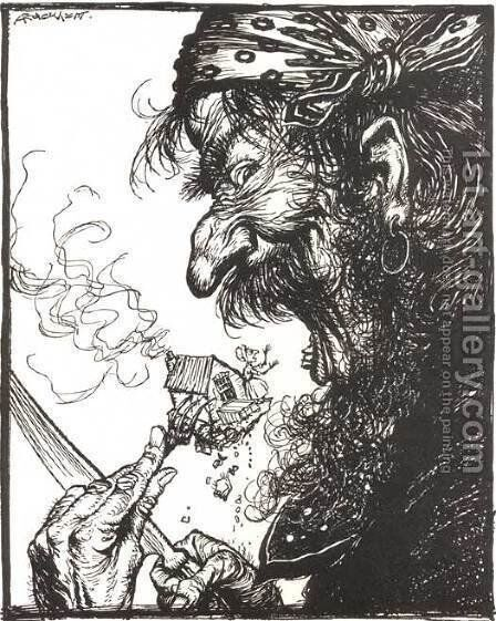 Mother Goose: A Little Nothing Woman by Arthur Rackham - Reproduction Oil Painting