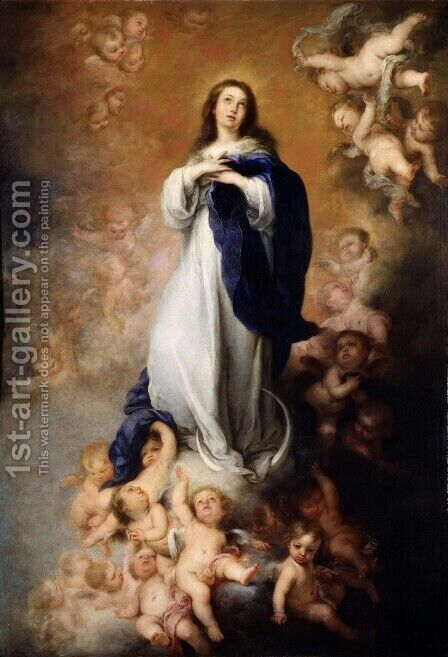Immaculate Conception by Bartolome Esteban Murillo - Reproduction Oil Painting