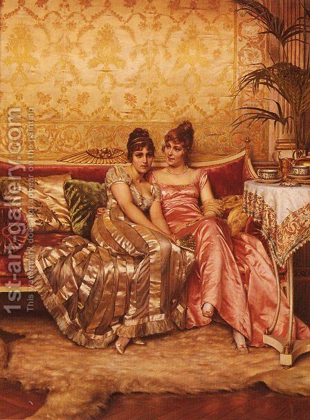 Confidences by Charles Joseph Frederick Soulacroix - Reproduction Oil Painting