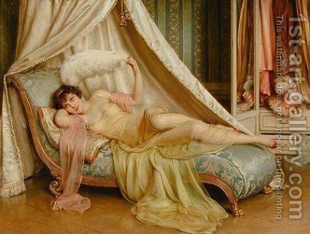 La Coquette by Charles Joseph Frederick Soulacroix - Reproduction Oil Painting