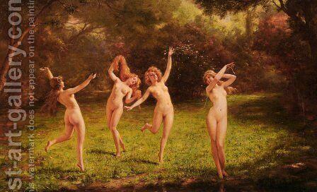 Spring by Charles Joseph Frederick Soulacroix - Reproduction Oil Painting