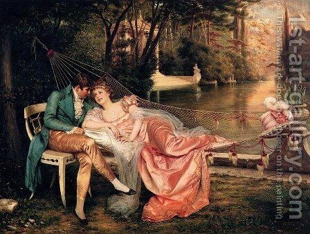 Flirtation I by Charles Joseph Frederick Soulacroix - Reproduction Oil Painting