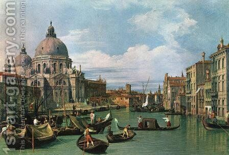 The Grand Canal at the Salute Church 2 by (Giovanni Antonio Canal) Canaletto - Reproduction Oil Painting