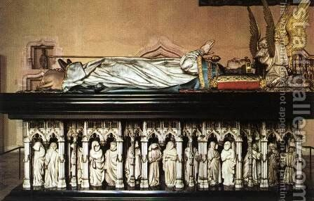 Tomb of Philip the Bold, Duke of Burgundy by Claus Sluter - Reproduction Oil Painting