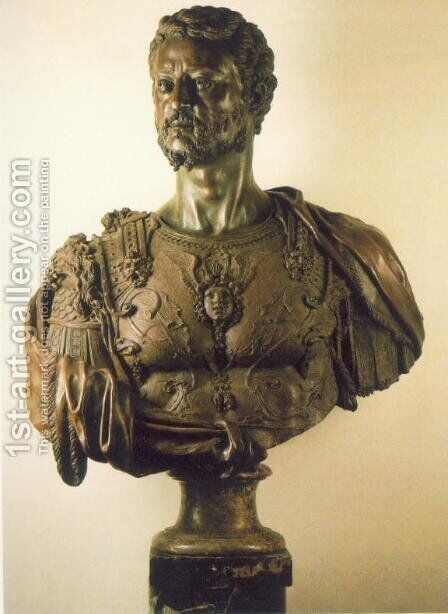 Bust of Cosimo I by Benvenuto Cellini - Reproduction Oil Painting