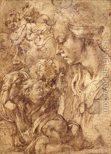 Studies I by Benvenuto Cellini - Reproduction Oil Painting