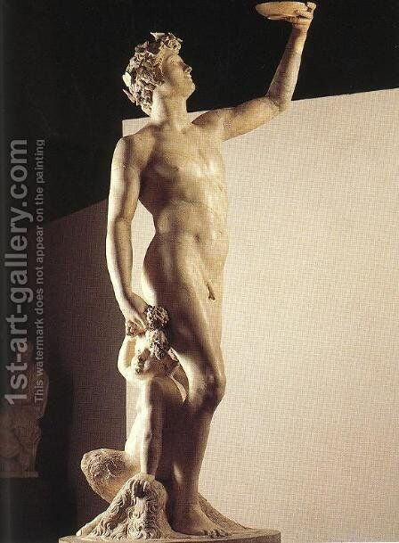Bacchus by Jacopo Sansovino - Reproduction Oil Painting