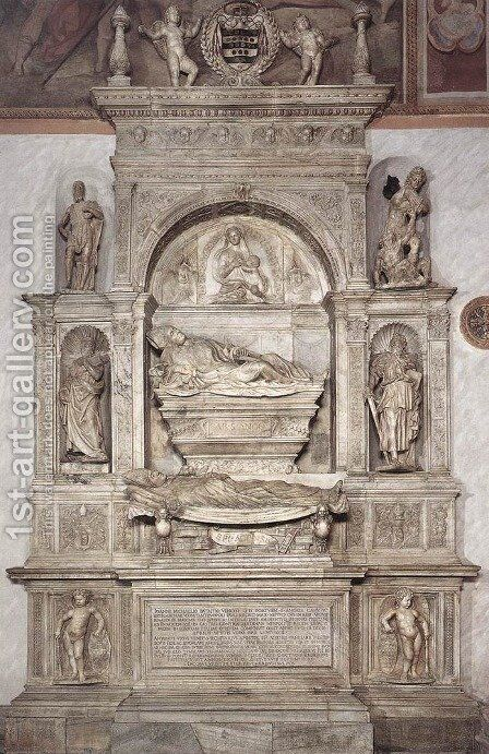 Double Tomb of Antonio Orso and Cardinal Giovanni Michiel by Jacopo Sansovino - Reproduction Oil Painting