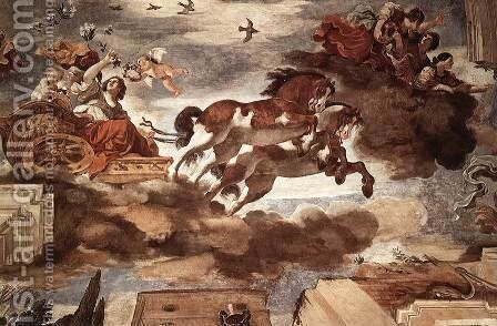 Aurora by Guercino - Reproduction Oil Painting