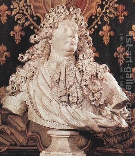 King Louis XIV by Antoine Coysevox - Reproduction Oil Painting