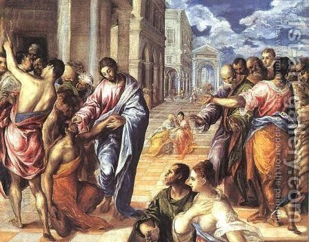 Christ Healing the Blind by El Greco - Reproduction Oil Painting