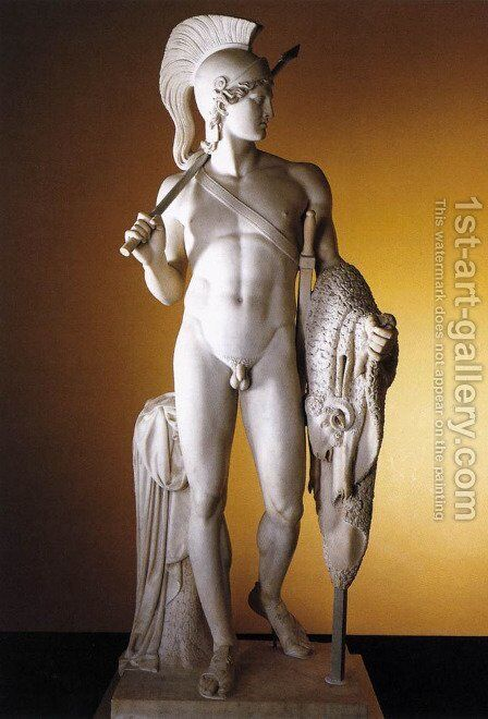 Jason with the Golden Fleece by Bertel Thorvaldsen - Reproduction Oil Painting