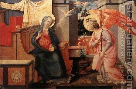 Annunciation I by Fra Filippo Lippi - Reproduction Oil Painting