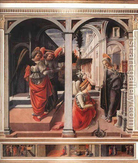 Annunciation II by Fra Filippo Lippi - Reproduction Oil Painting
