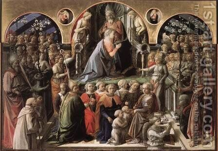 Coronation of the Virgin I by Fra Filippo Lippi - Reproduction Oil Painting