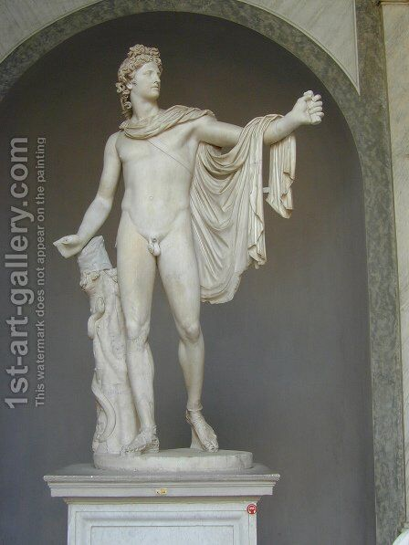 Apollo Belvedere by After Leochares - Reproduction Oil Painting