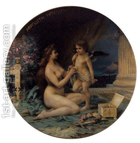 Aphrodite and Eros I by Henri Camille Danger - Reproduction Oil Painting