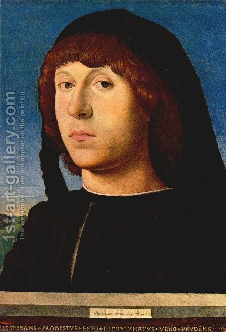 Portrait of a Man II by Antonello da Messina Messina - Reproduction Oil Painting