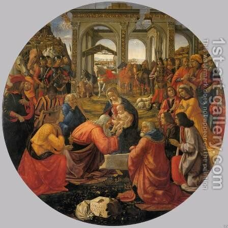 Adoration of the Magi I by Domenico Ghirlandaio - Reproduction Oil Painting