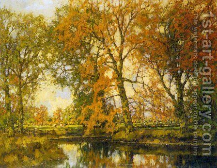 An Autumn Landscape with Cows Near a Stream by Arnold Marc Gorter - Reproduction Oil Painting