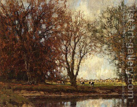 A View Of The Vordense Beek by Arnold Marc Gorter - Reproduction Oil Painting
