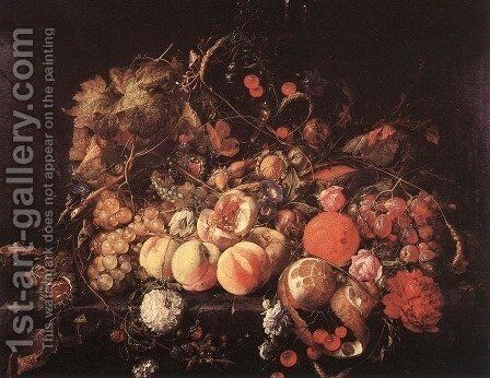 Still-life II by Jan Davidsz. De Heem - Reproduction Oil Painting