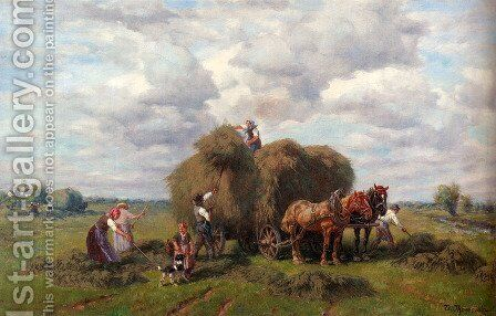 The Hay Harvest by Desire Thomassin - Reproduction Oil Painting