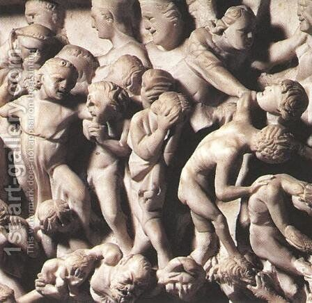 Last Judgment [detail #1] by Giovanni Pisano - Reproduction Oil Painting