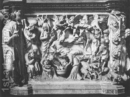 Story of the Birth of Jesus by Giovanni Pisano - Reproduction Oil Painting