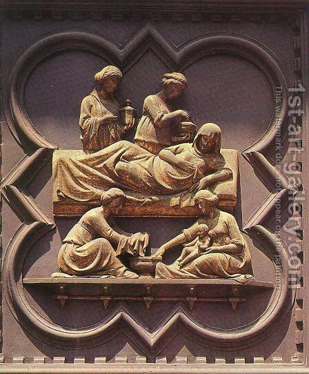 South Doors: Birth of the Baptist by Andrea Pisano - Reproduction Oil Painting