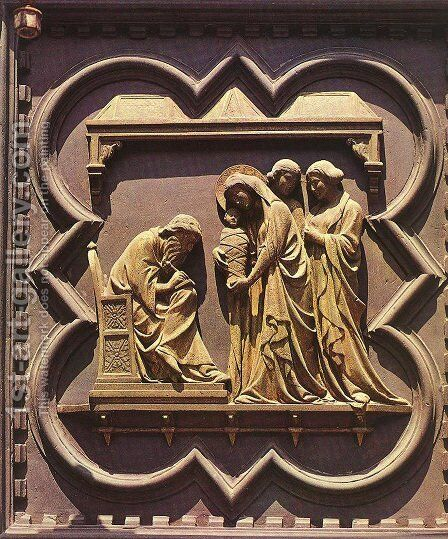 South Doors: Naming of the Baptist by Andrea Pisano - Reproduction Oil Painting