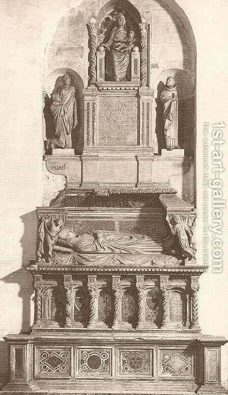 Tomb of Cardinal de Braye by Arnolfo Di Cambio - Reproduction Oil Painting