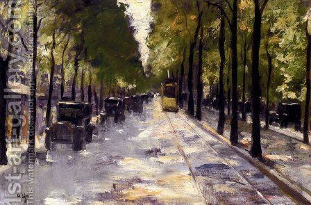 Berlin Street by Lesser Ury - Reproduction Oil Painting