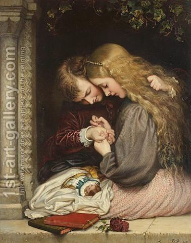 The thorn by Charles West Cope - Reproduction Oil Painting