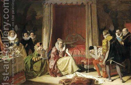 Queen Elizabeth discovers she is no longer young by Augustus Leopold Egg - Reproduction Oil Painting