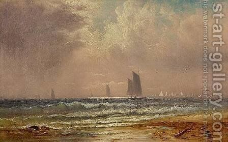 Sails Off the New Bedford Coast by Charles Henry Gifford - Reproduction Oil Painting