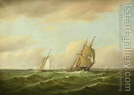 New Bedford Harbor, 1868 by Charles Henry Gifford - Reproduction Oil Painting