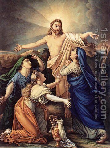 Le Christ et les trois Maries by Alexandre Charles Guillemot - Reproduction Oil Painting