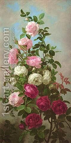 Wild Roses by Anna Eliza Hardy - Reproduction Oil Painting