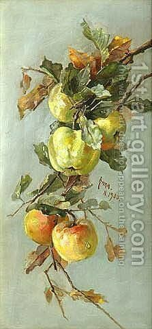 Apples, 1900 by Anna Eliza Hardy - Reproduction Oil Painting