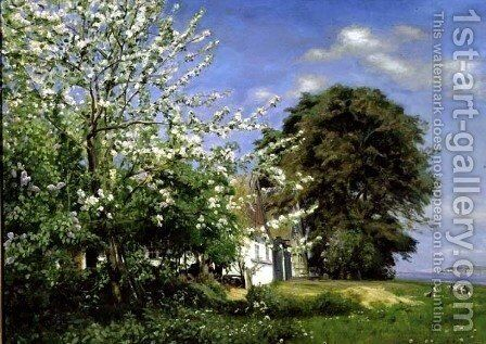 Spring Blossom, 1908 by Christian Zacho - Reproduction Oil Painting