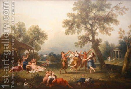 Bacchanal by Giuseppe Zais - Reproduction Oil Painting
