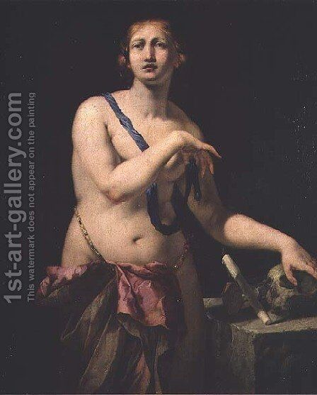Mary Magdalene in Penitence by Antonio Zanchi - Reproduction Oil Painting
